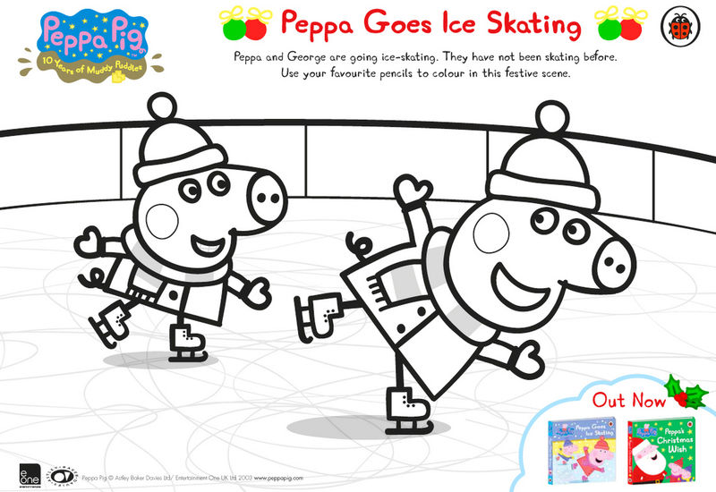 Peppa Pig Ice Skating Coloring Books