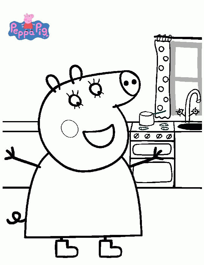 Peppa Pig Mom Coloring Pages