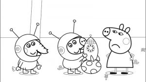 Peppa pig pictures to color
