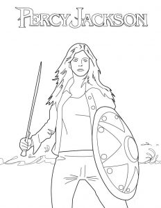 Percy jackson coloring pages activity