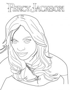 Percy jackson coloring pages kids