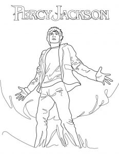 Percy jackson coloring pages printable