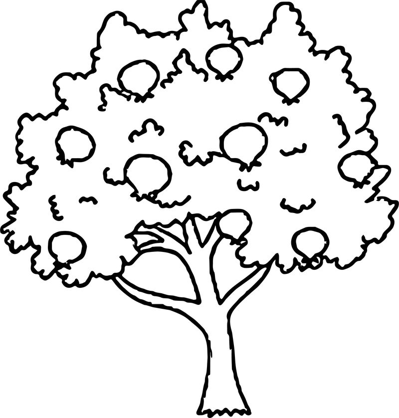 Perfect Apple Tree Coloring Page