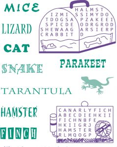 Pet word search for kids