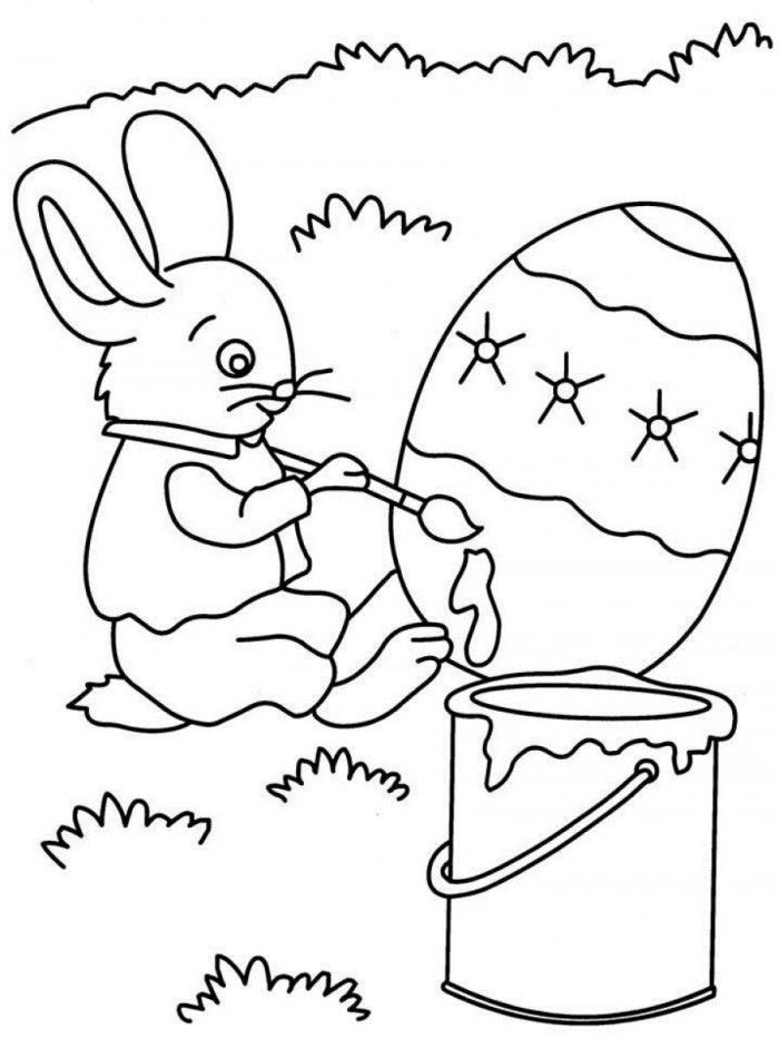 Peter Rabbit Easter Egg Coloring Pages