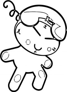Phone clock character clip art 419 free printable 94 cartoonized free printable coloring page