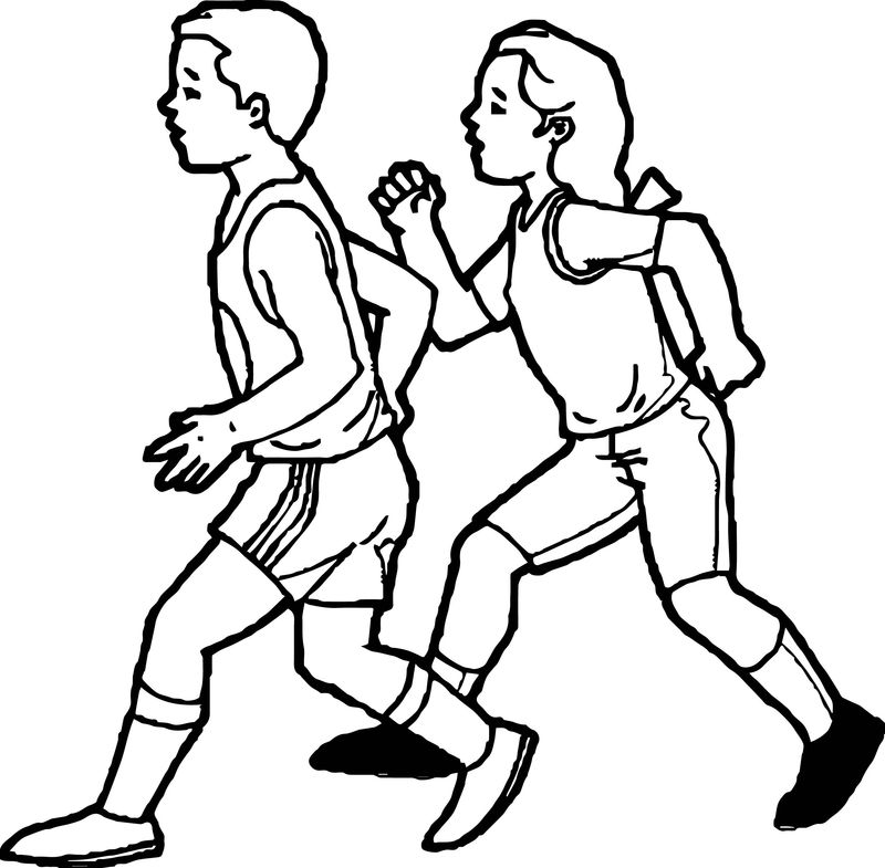 Physical Activity Activity Coloring Page