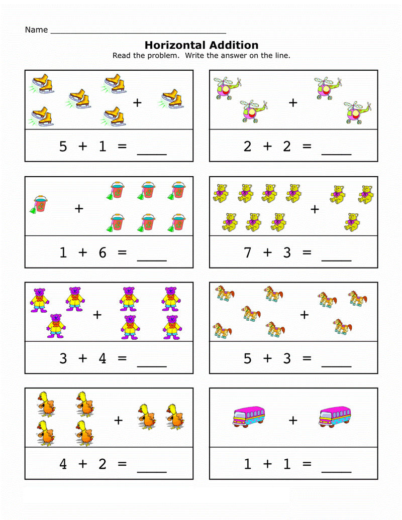 Picture Math Worksheets 2016