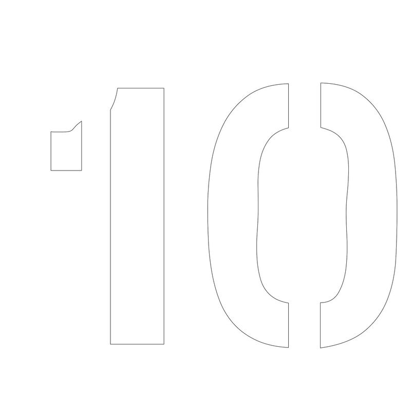 Picture Of Number 10 Template