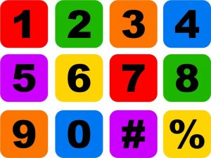 Picture of numbers colorful