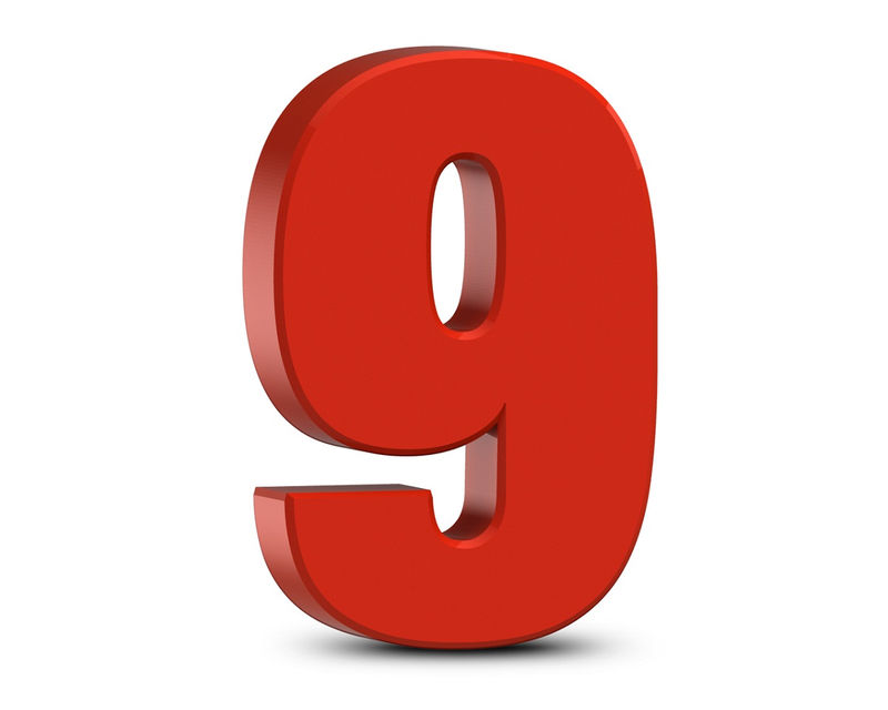 Picture Of Numbers Nine