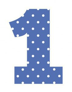 Picture of the number 1 blue color