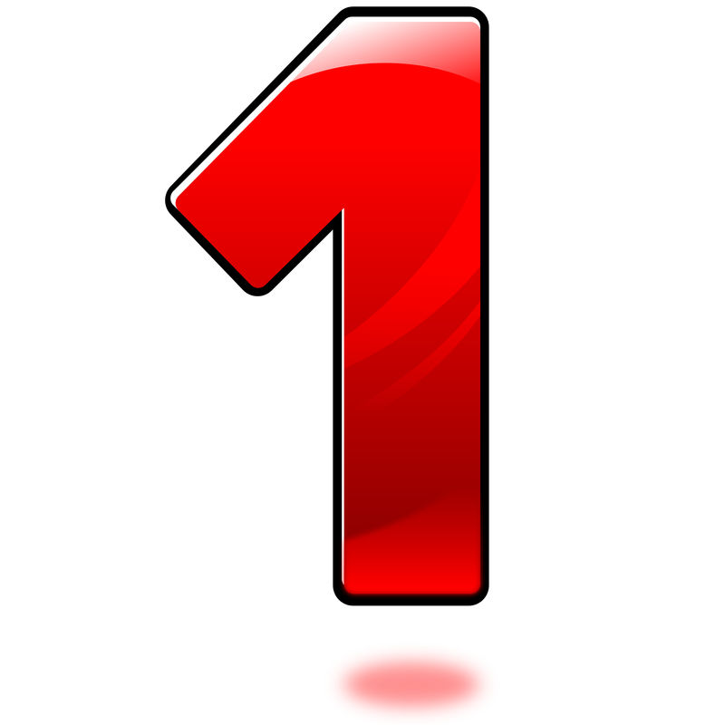 Picture Of The Number 1 Design