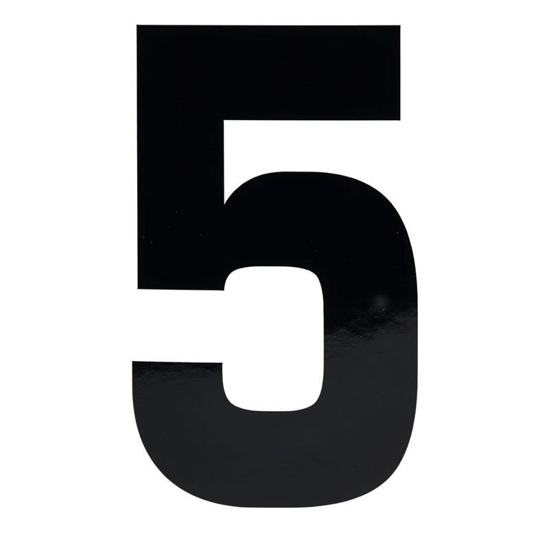 Picture Of The Number 5 Black