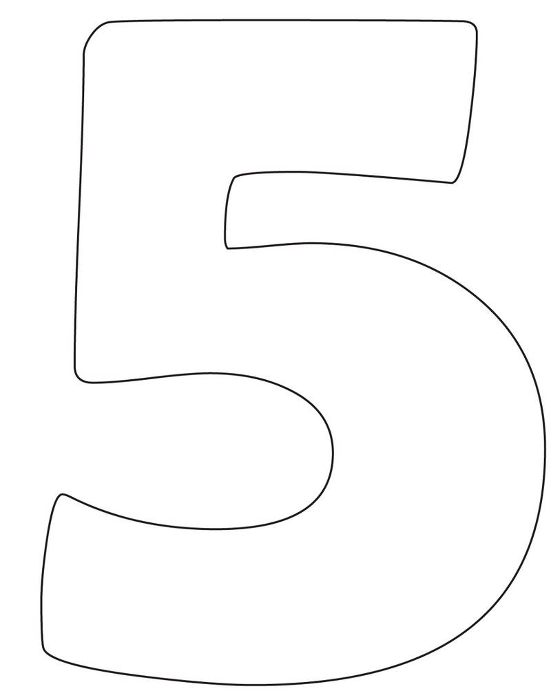 Picture Of The Number 5 Clip Art