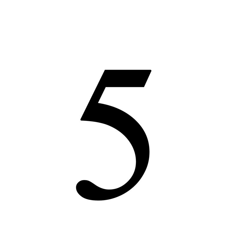Picture Of The Number 5 For Kids
