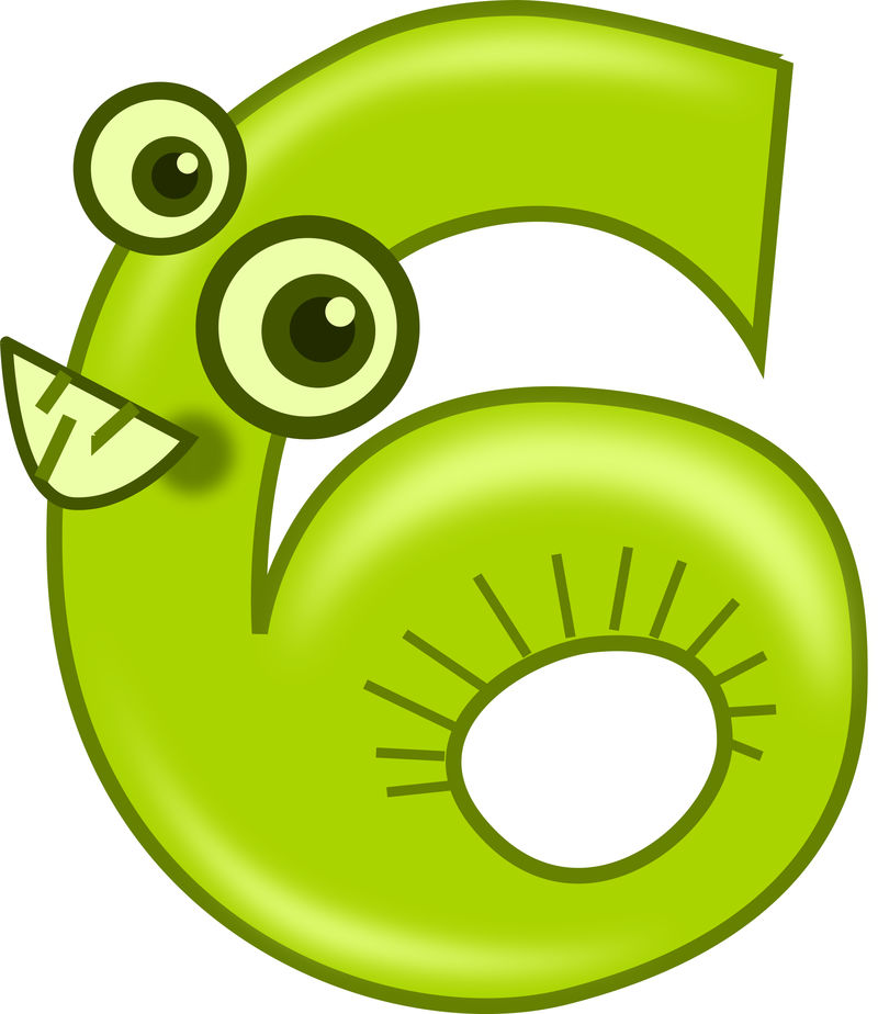 Picture Of The Number 6 For Kids