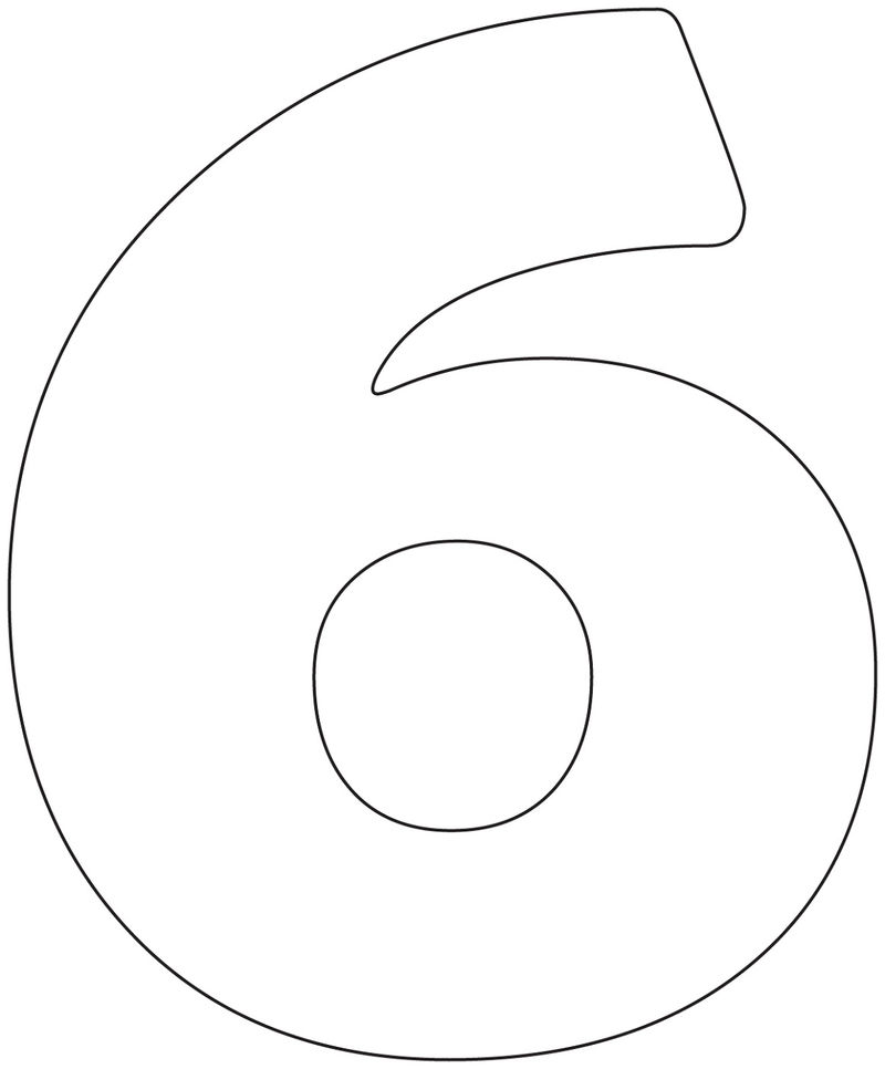 Picture Of The Number 6 Printable
