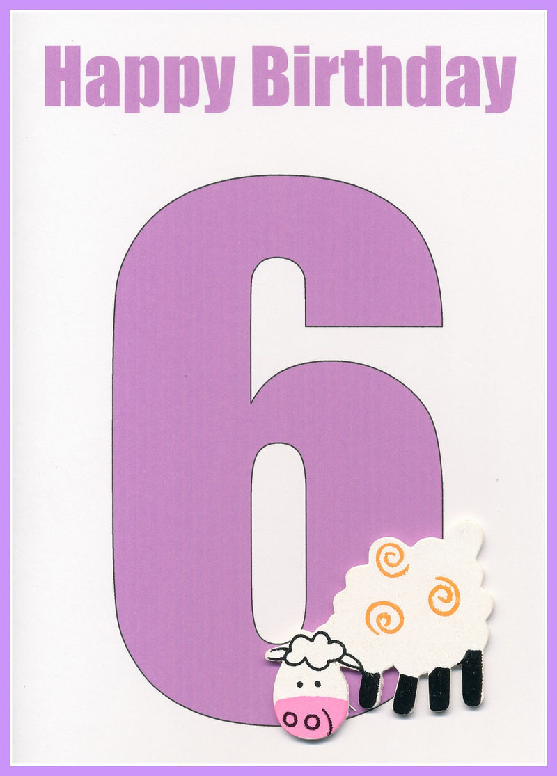Picture Of The Number 6 Purple