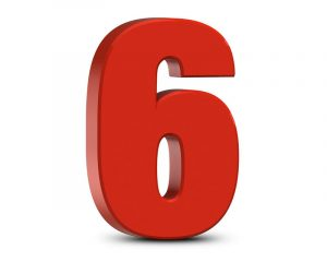 Picture of the number 6 red