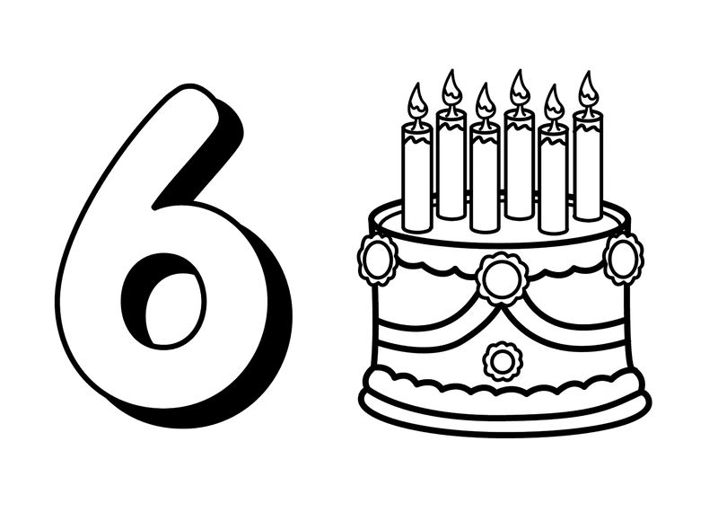 Picture Of The Number 6 Simple