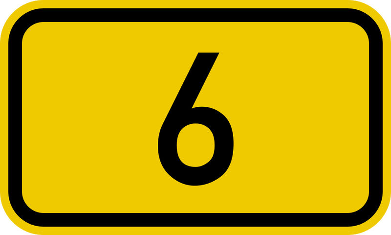 Picture Of The Number 6 Svg