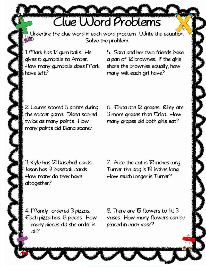 Picture Word Problems For Learning