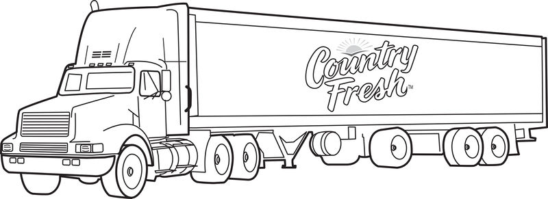 Pictures Of Big Trucks For Kids No Color