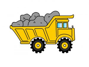 Pictures of big trucks for kids simple