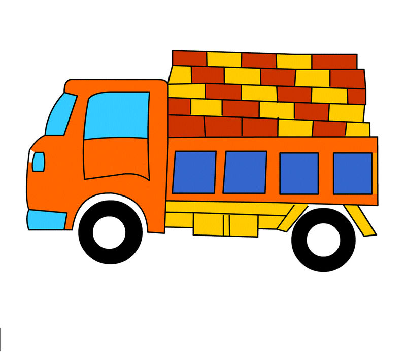 Pictures Of Big Trucks For Kids Yellow