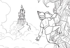 Pictures of jack and the beanstalk coloring 001