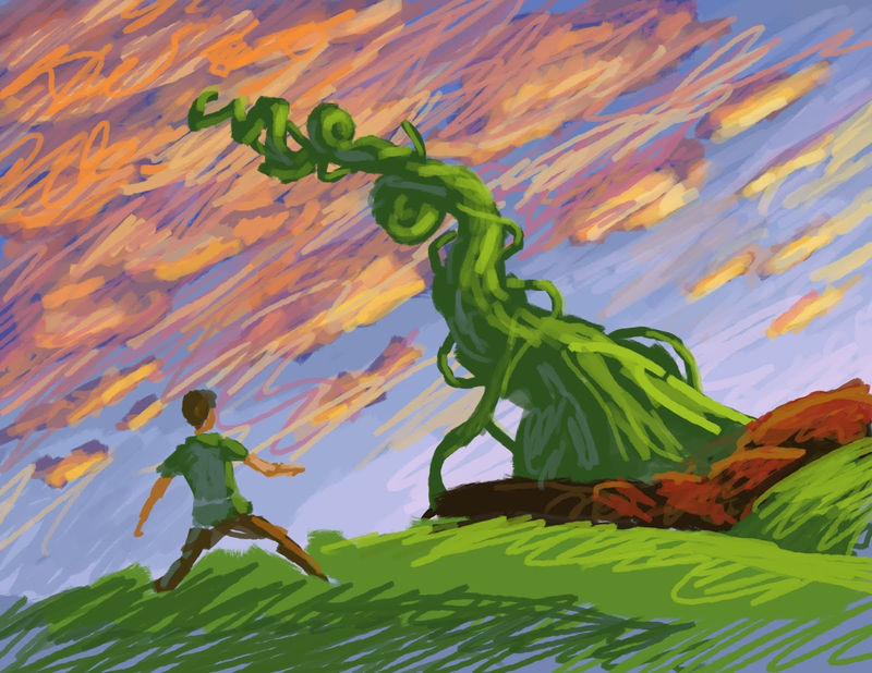 Pictures Of Jack And The Beanstalk Drawing 001
