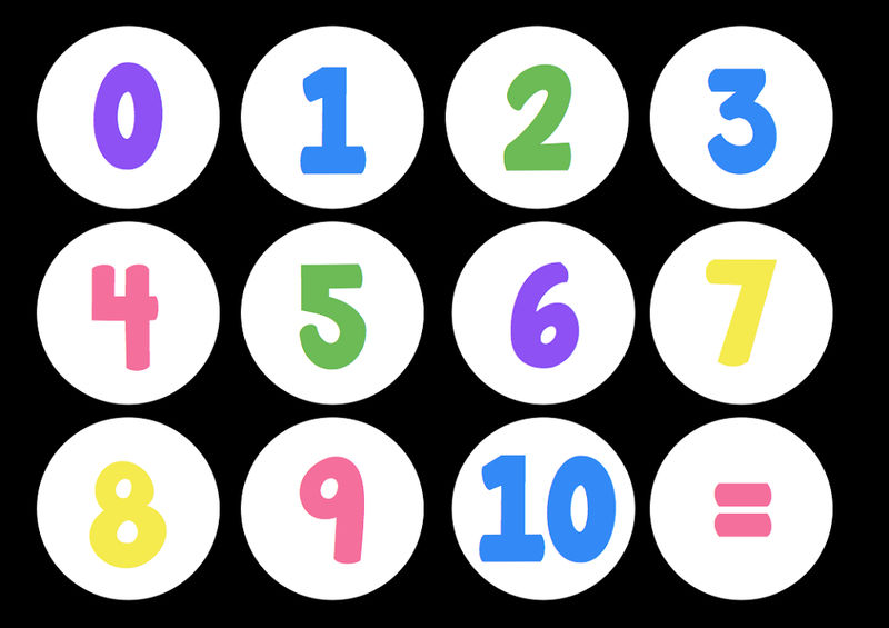 Pictures Of Numbers 1 10 Black