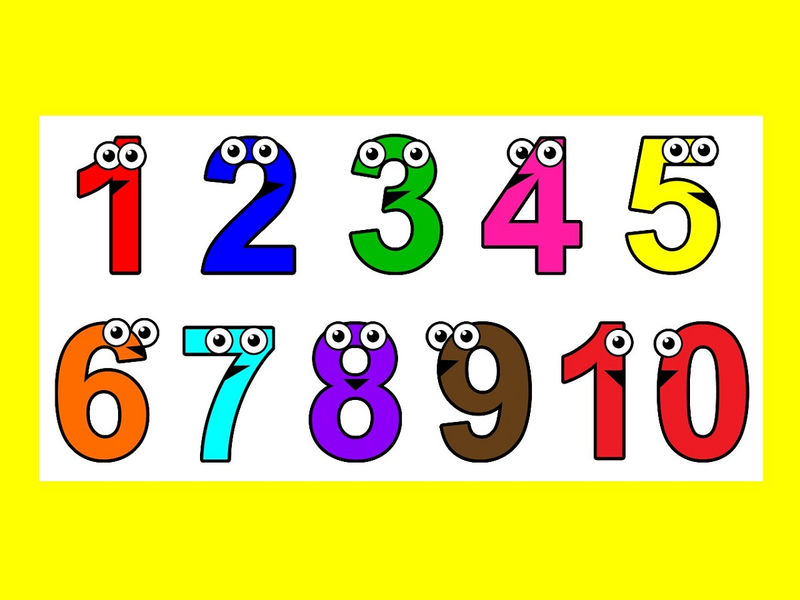 Pictures Of Numbers 1 10 Yellow