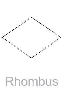 Pictures of rhombus shapes traceable 001
