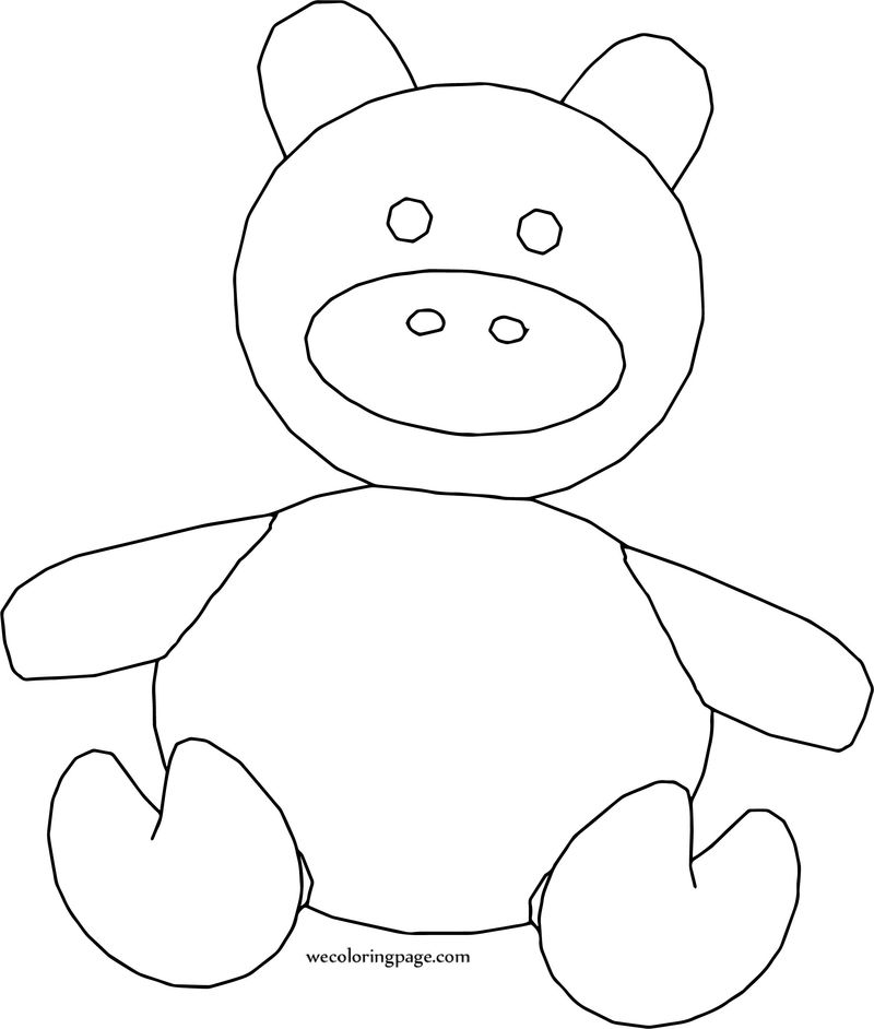 Pig Toy Cartoon Coloring Page