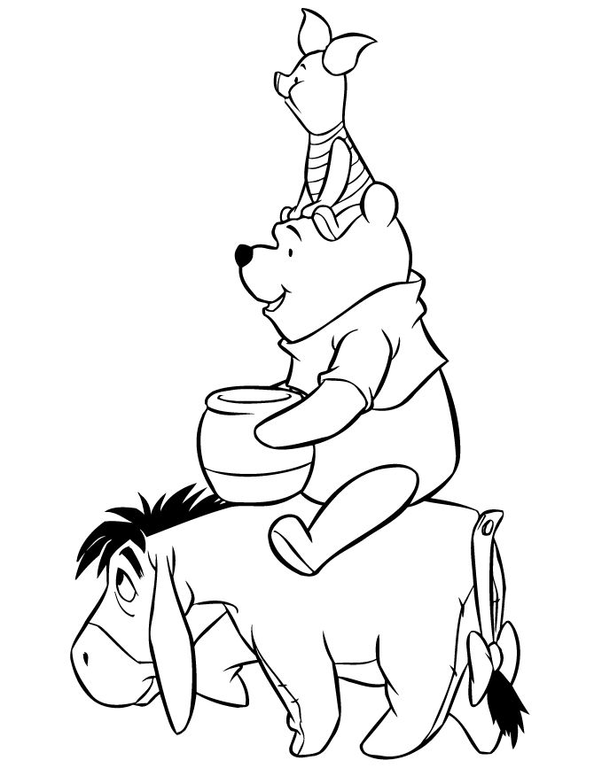 Piglet Coloring Page Printables