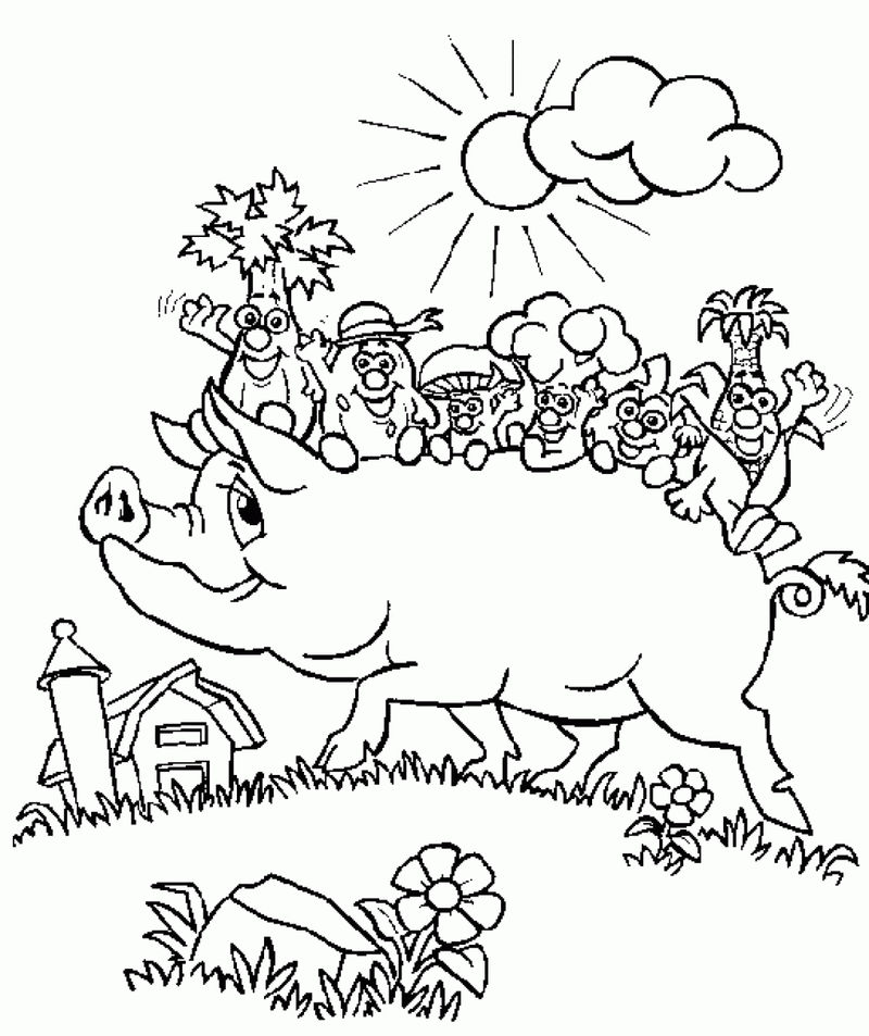 Pigs Coloring Pages