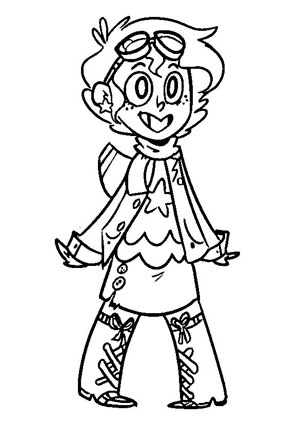 Pilot Girl Coloring Page 1