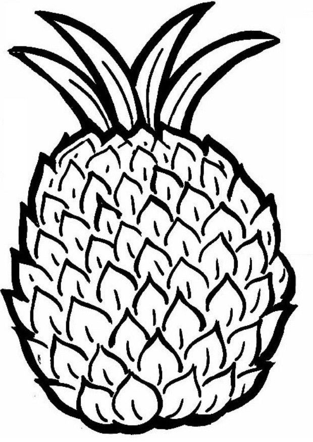 Pineapple Coloring Pages For Kids 001