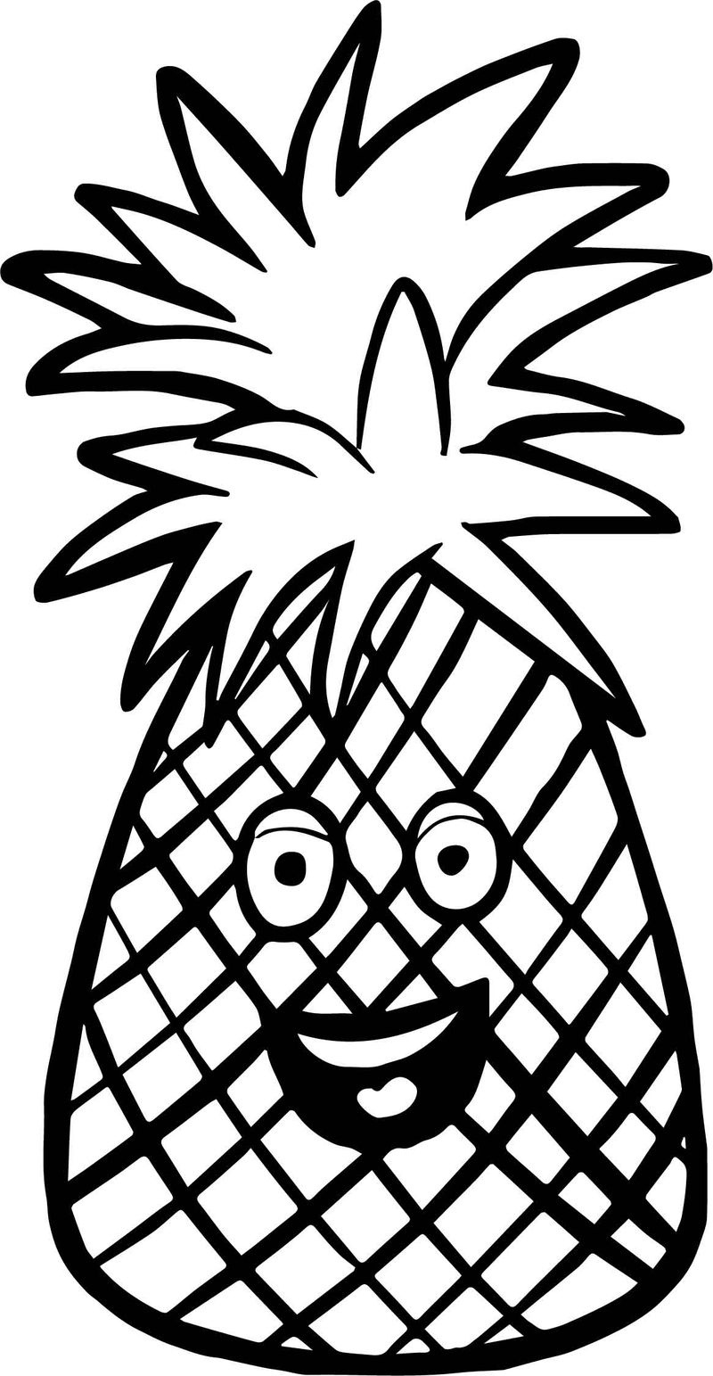 Pineapple Fruit Coloring Page