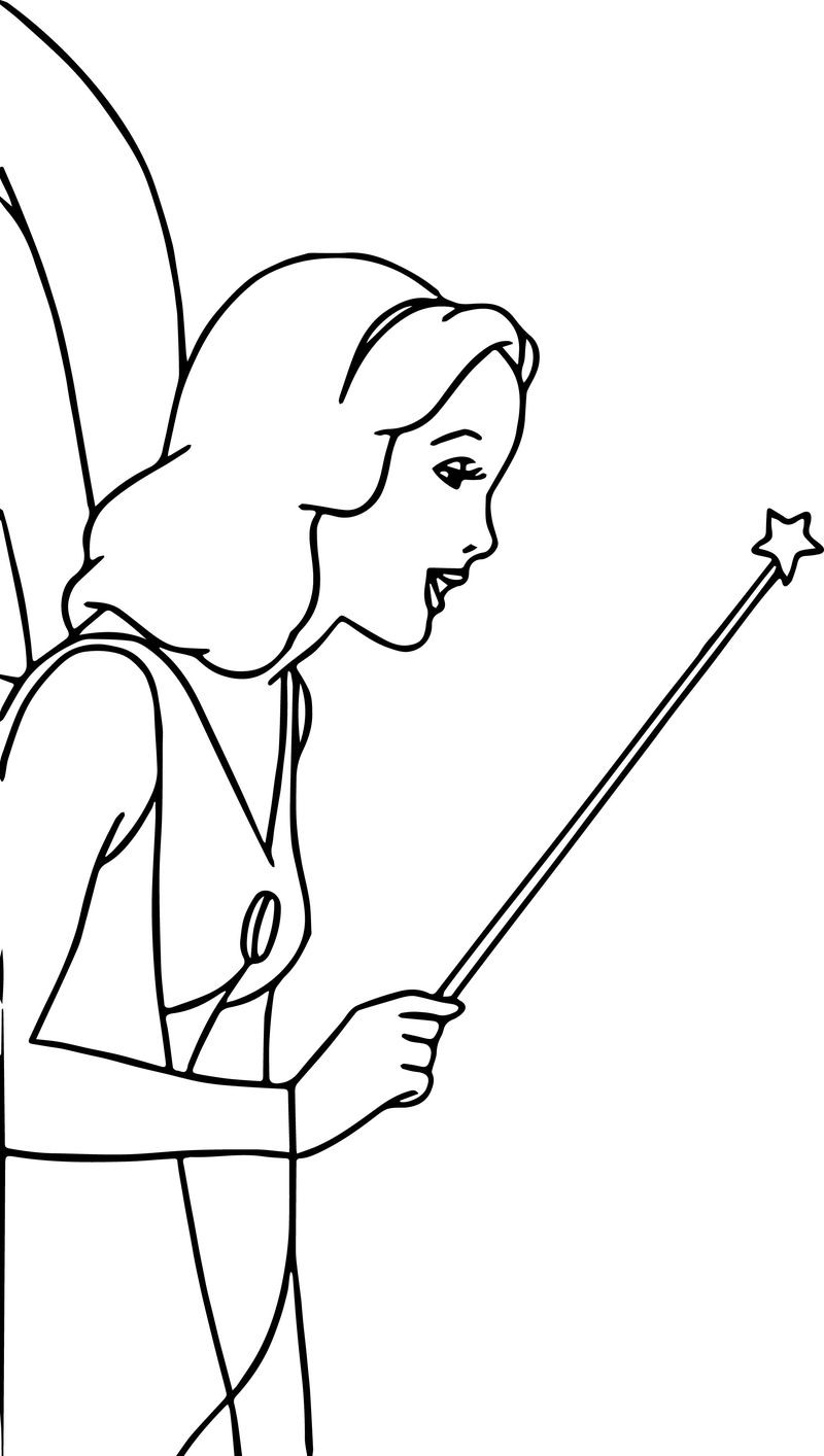 Pinocchio Blue Fairy 1 Coloring Pages