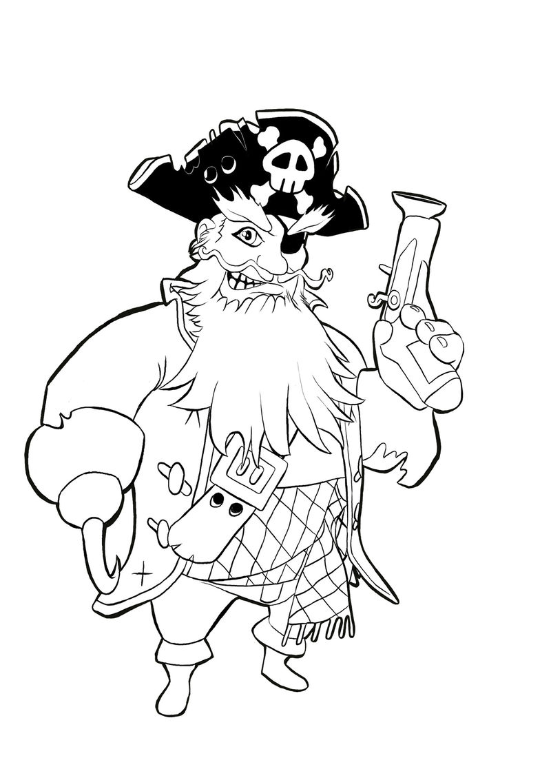 Pirate Color Pages Children