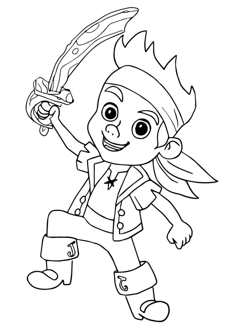 Pirate Color Pages Easy - Coloring Sheets