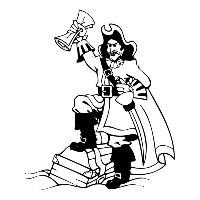 Pirate Color Pages Worksheet