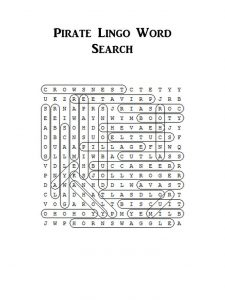 Pirate crossword puzzle solution