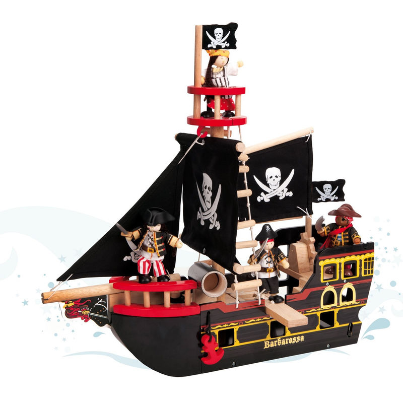Pirate Ship Pictures For Kids Black