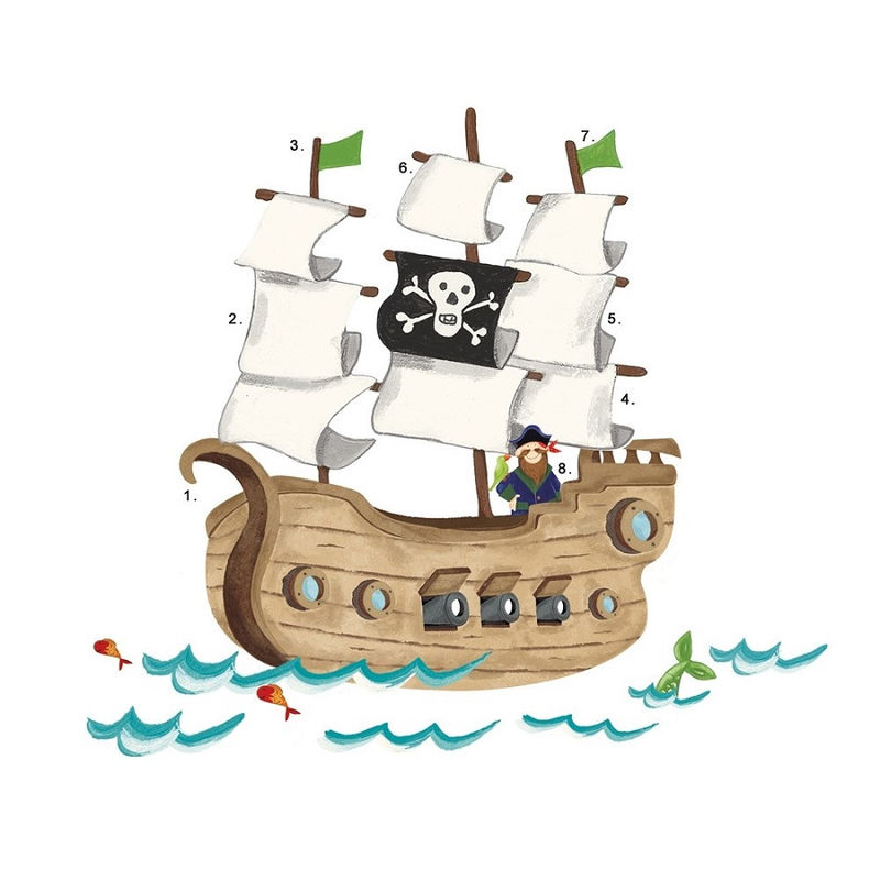 Pirate Ship Pictures For Kids Simple