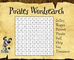 Pirate word search activity 001