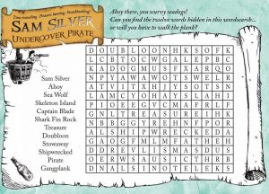 Pirate word search fun